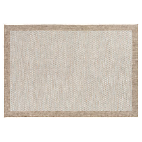 Zenebe Outdoor Rug, Taupe/Multi