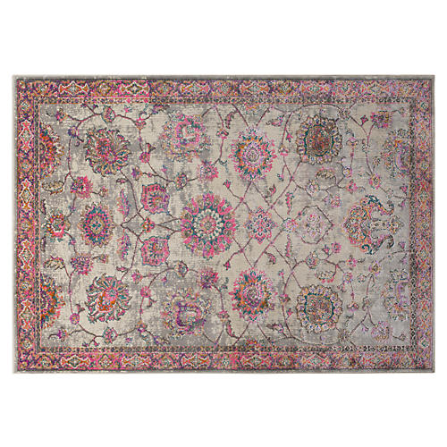 Zubin Rug, Bright Pink/Multi