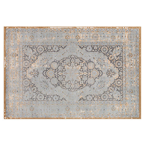 Enceladus Rug, Medium Gray/Multi