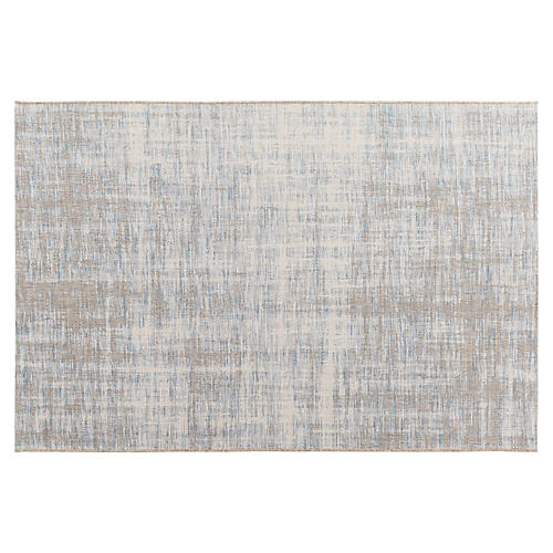 Valter Outdoor Rug, Sky Blue/Multi