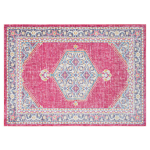 Udoka Rug, Bright Pink/Multi