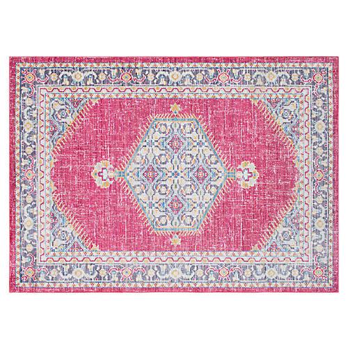 Udoka Rug, Bright Pink/Multi