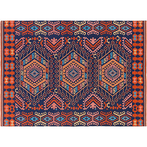 Felicty Outdoor Rug, Red/Multi