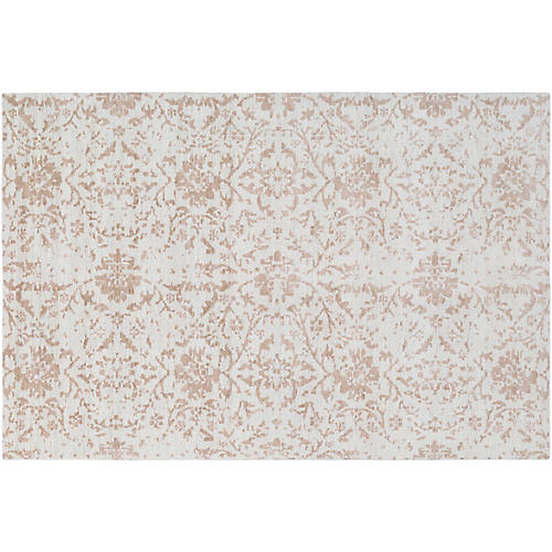 Lydia Hand-Knotted Rug, Camel/Cream