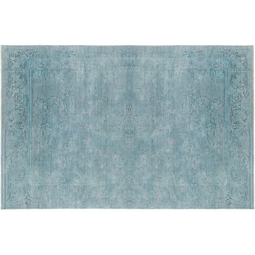 Florence Hand-Knotted Rug, Teal