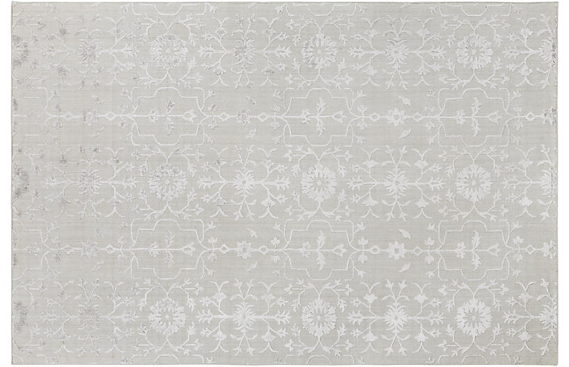 Euless Hand-Knotted Rug, Light Gray