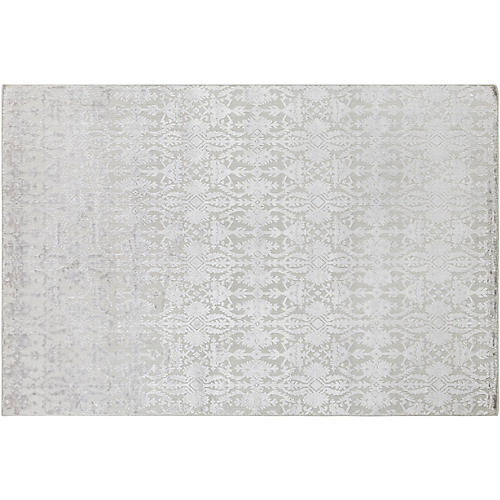 Latrobe Hand-Knotted Rug, Light Gray