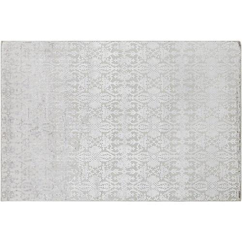 Latrobe Hand-Knotted Rug, Light Gray