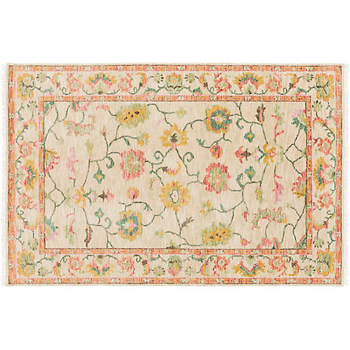 Ada Hand-Knotted Rug, Bright Pink