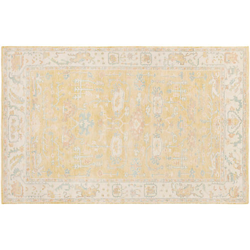 Olney Hand-Knotted Rug, Wheat