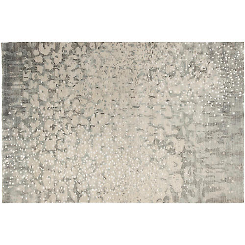 Shine Hand-Knotted Rug, Charcoal