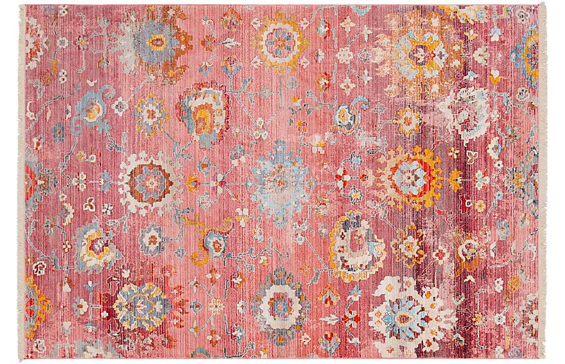 Vinovia Rug, Pale Pink/Multi