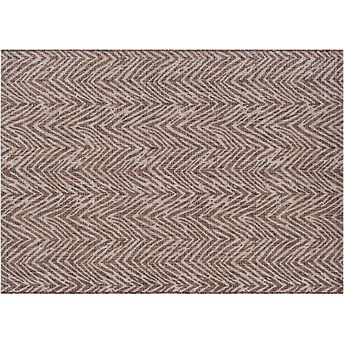 Bachor Outdoor Rug, Brown/White