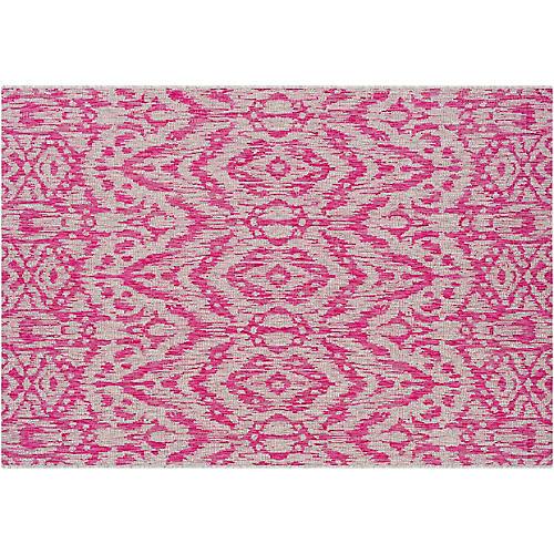 Cabra Outdoor Rug, Bright Pink