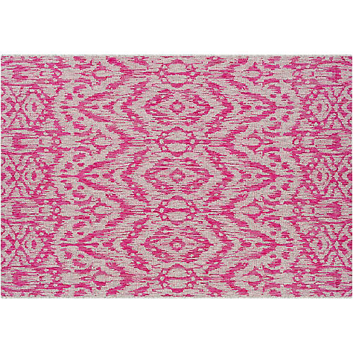 Cabra Outdoor Rug, Bright Pink