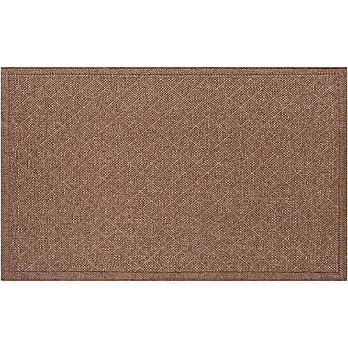 Dalum Outdoor Rug, Camel/Dark Brown