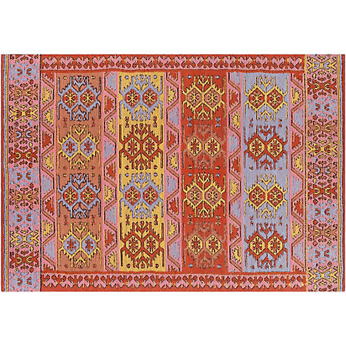 Dauner Outdoor Rug, Bright Red