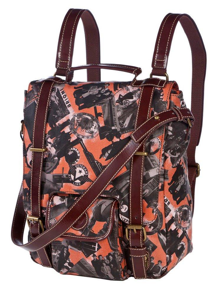 Canvas Backpack, Orange