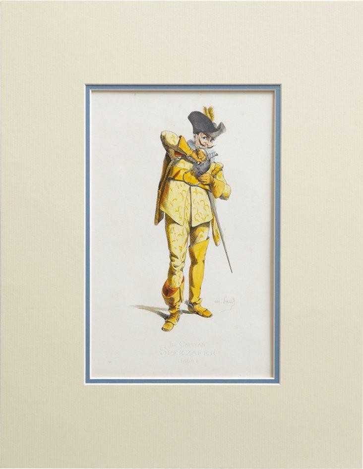 Italian Costume Print I