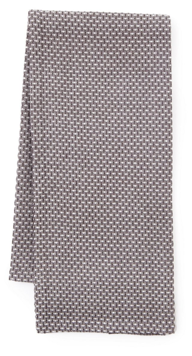 S/3 Basket Weave Dish Towels, Charcoal