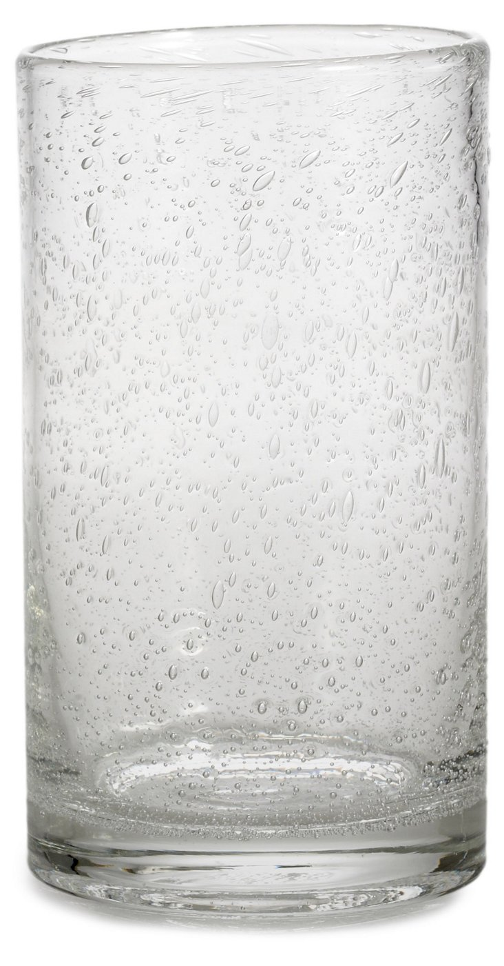S/6 Bubble-Glass Tumblers, Clear