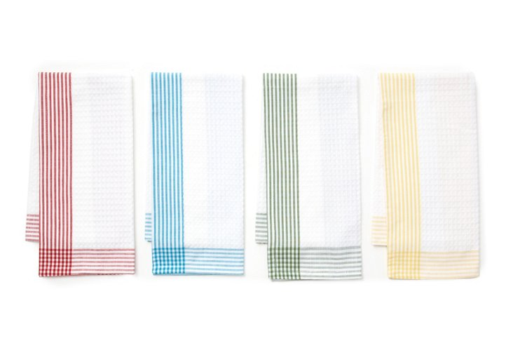 S/4 Stripe Dish Towels