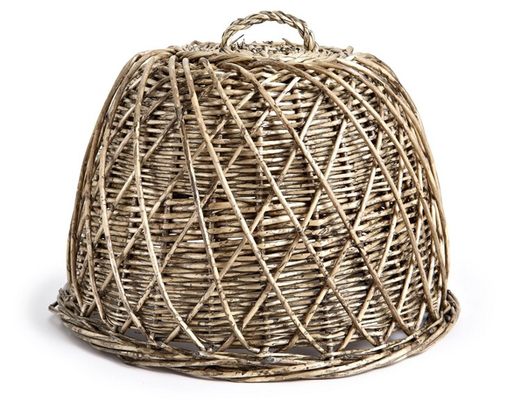"""13"""" Braided Willow Dome, Natural"""