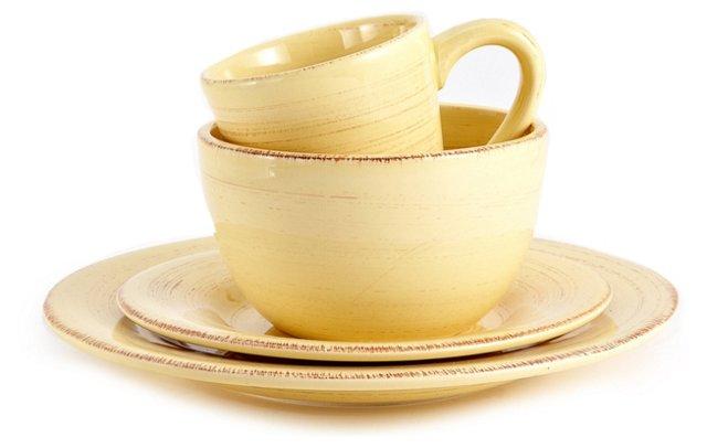 16-Piece Sonoma Dish Set, Yellow