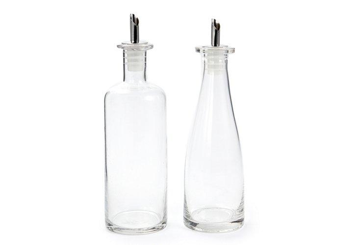 Glass Oil & Vinegar Set