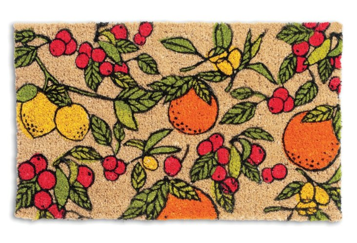 "1'6""x2'6"" Kitchen Coir Mat, Natural"