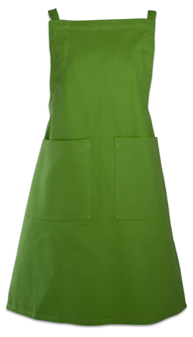 Basic Solid Apron, Green