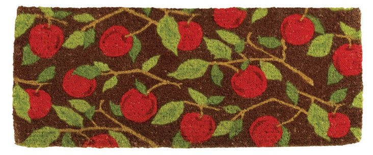 "1'6""x3'4"" Orchard Mat, Cocoa/Red/Green"