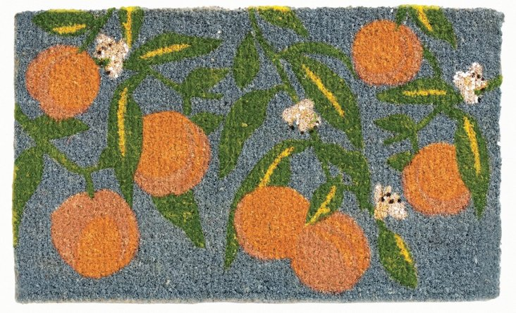 "1'6""x2'6"" Georgia Coir Mat, Blue/Multi"