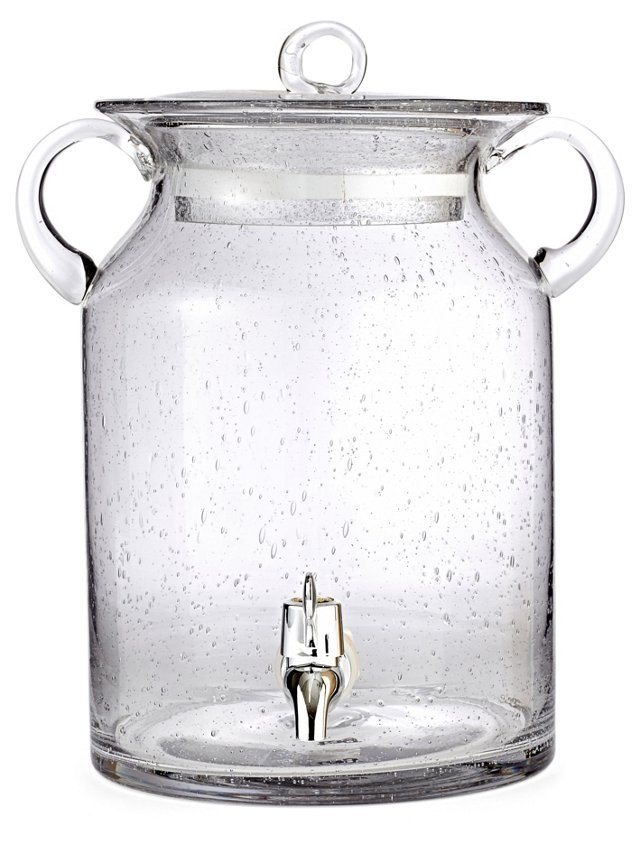 Bubble-Glass Beverage Dispenser, Clear