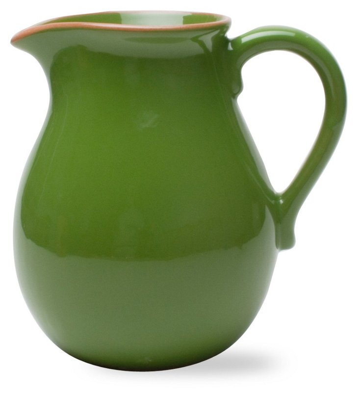 Jardin Terracotta Pitcher, Green