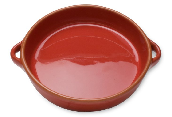 """9.5"""" Round Terracotta Baker, Red"""