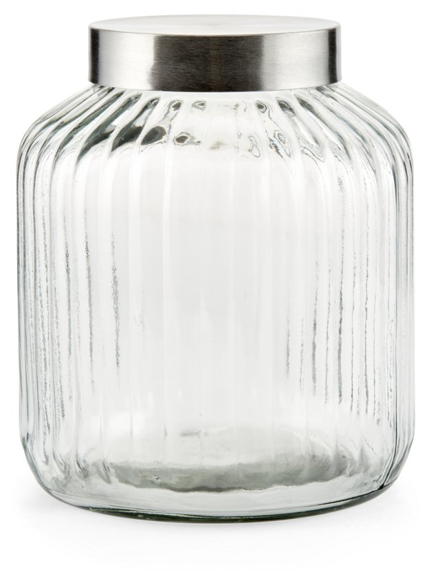 S/2 Glass Canisters, Medium
