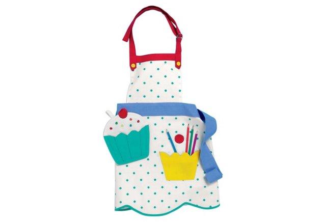 Child's Cupcake Apron and Mitt Set