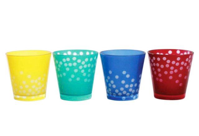 Confetti Glass Tea Light Assortment