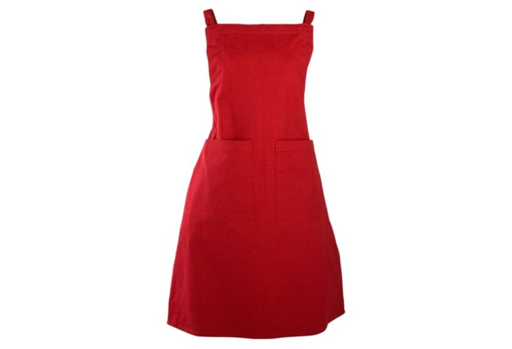 Basic Solid Apron, Red