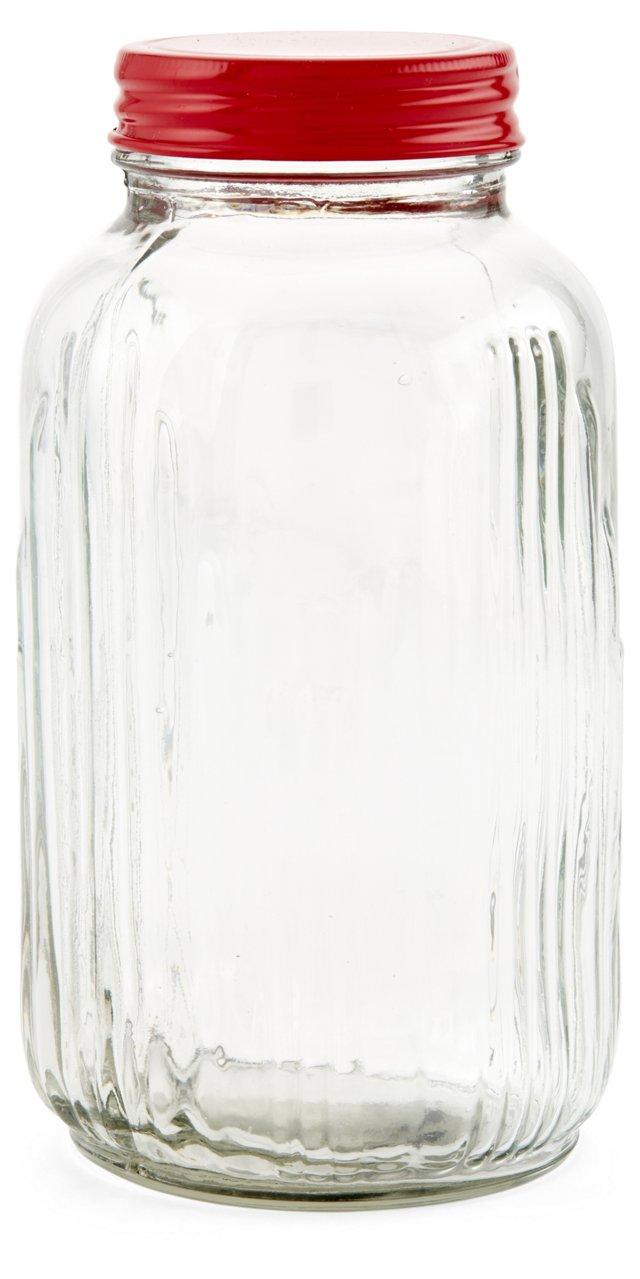 "8"" Vintage-Style Glass Jar"