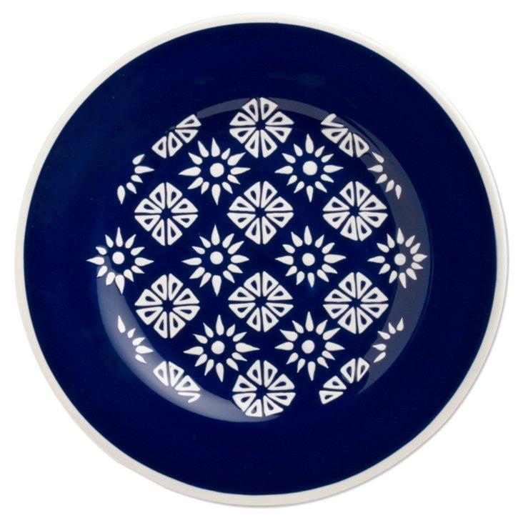 Indigo Salad Plate, Blue/White