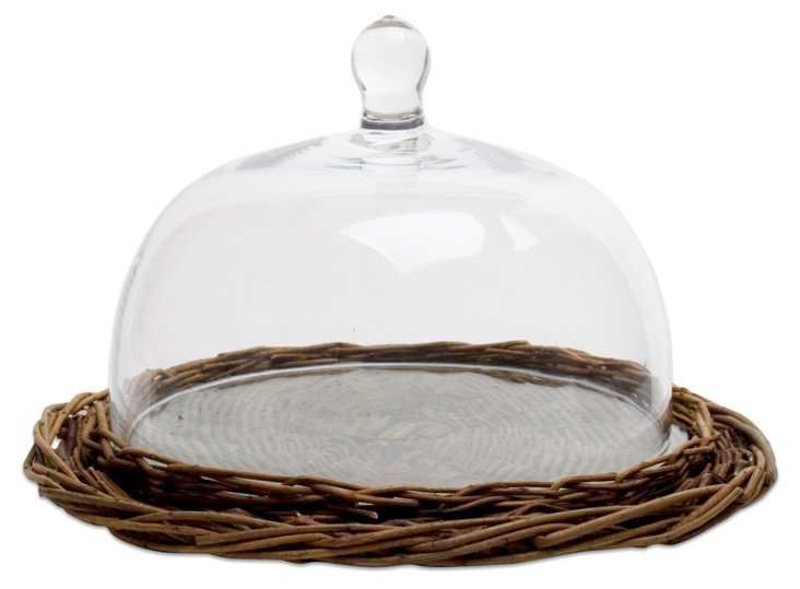 Willow & Glass Display Dome, 12""