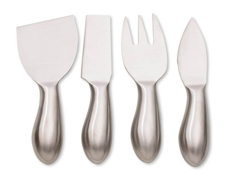 S/4 Assorted Stainless Cheese Utensils