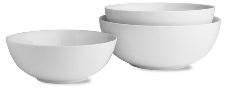 S/3 Porcelain Serving Bowls