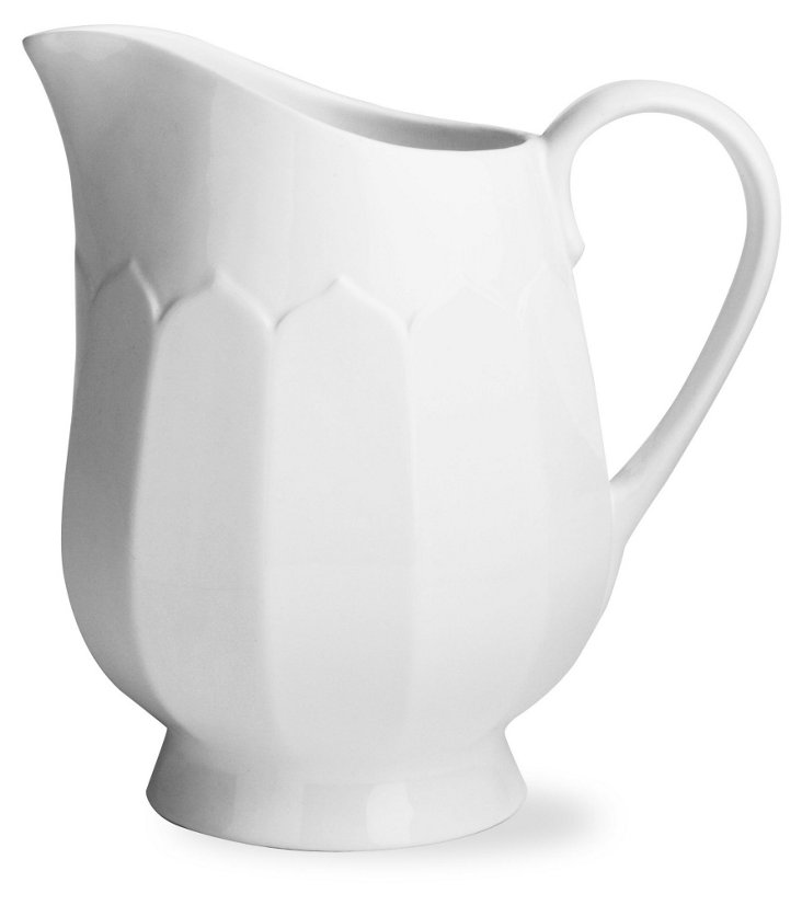Large Fluted Pitcher