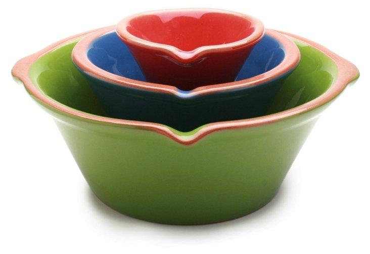 S/3 Asst Jardin Terra Mix & Pour Bowls