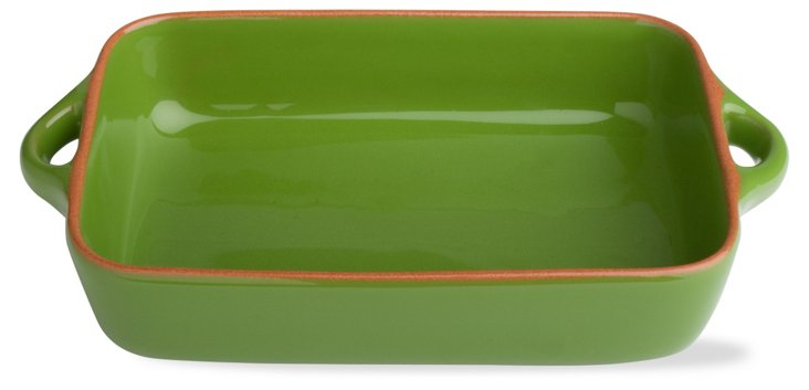 "9.9"" Rectangular Baker, Bright Green"