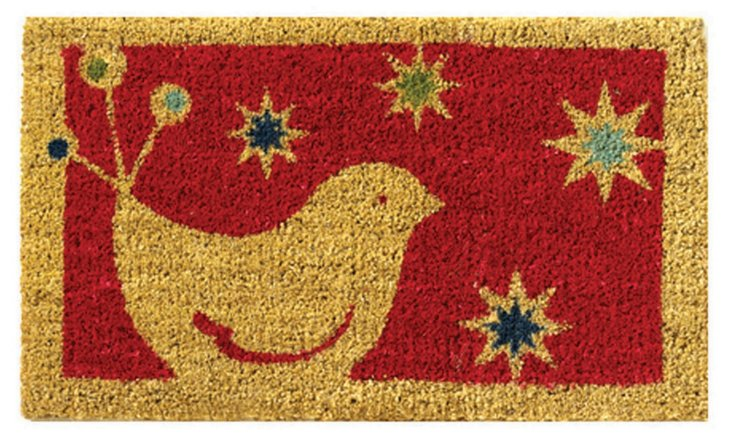 "1'6"" x 2'6"" Chirp Mat, Red/Natural"