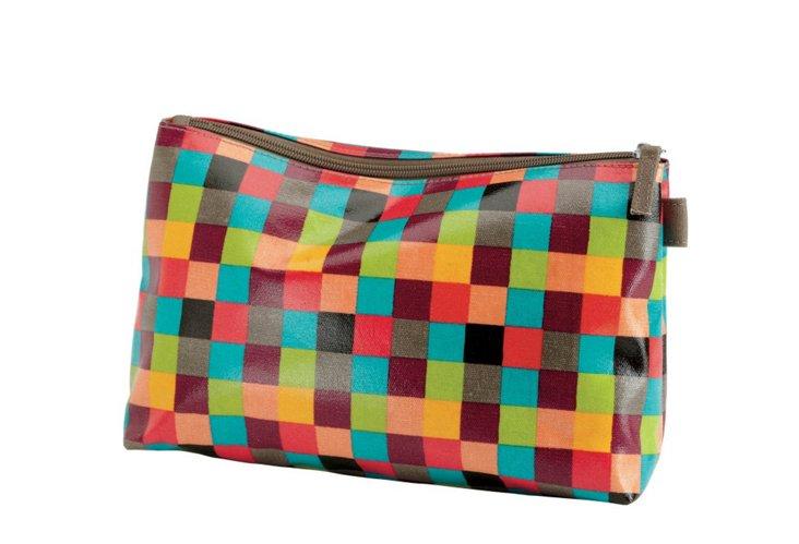 Cosmetic Bag, Bright Check